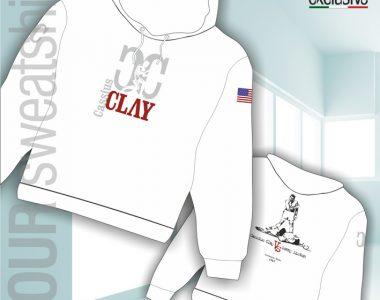 Felpa da personalizzare esempio Cassius Clay