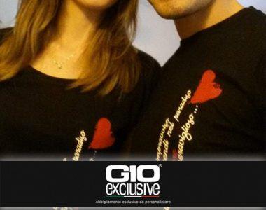 T-shirt da personalizzare esempio sposi Ale&Ele